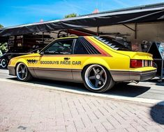 """forgeline: """"Repost from Pace Yourself Pro Touring, Mustang Pace Car built by Sits on a chassis and rides on wheels. Camaro Vs Mustang, 1979 Ford Mustang, Fox Body Mustang, Mustang Fastback, Mustang Cars, Ford Fox, Gt Turbo, Custom Muscle Cars, Ford Lincoln Mercury"""