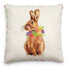 Reversible Painted Bunny Pillow