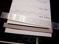 Tips for eliminating the folder line on embossing folder borders