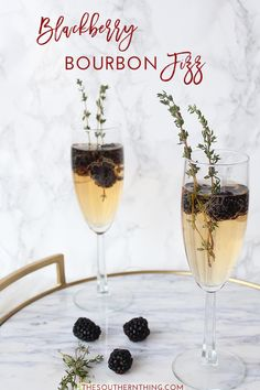 Msg 4 21+ Blackberry Bourbon Fizz Recipe AD: http://www.thesouthernthing.com/2016/12/blackberry-bourbon-fizz.html MyMionetto