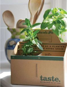 Reusable Package Planters - Taste Packaging Invites the Cook to Sew his Next Supper (GALLERY)