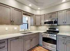 Grey Kitchen Cabinets Design Ideas, Pictures, Remodel, and Decor - page 6