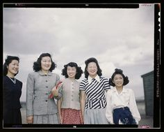Tule Lake, Newell, Calif., circa 1942 | beautiful 1940s photo of asian girls | vintage 40s photo