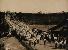 Peresmian jembatan Bantar yang menghubungkan Kulonprogo dan Bantul [Foto tahun 1920]