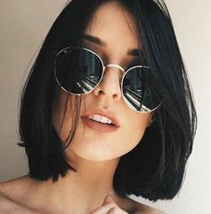 80 Bob Hairstyles To Give You All The Short Hair Inspiration - Hairstyles Trends Medium Hair Cuts, Short Hair Cuts, Medium Hair Styles, Curly Hair Styles, Short Hair For Round Face, Short Styles, Pixie Cuts, Short Pixie, Short Bob Haircuts