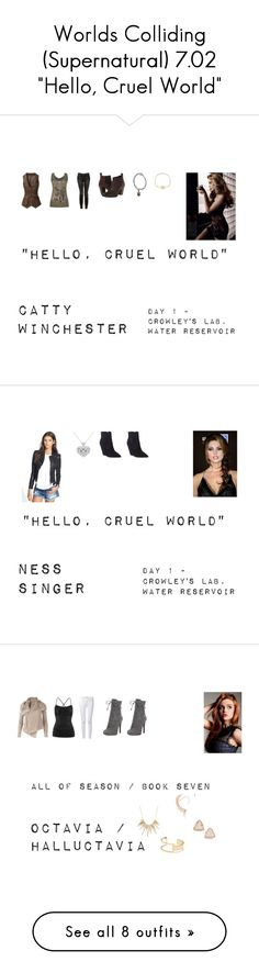 """""""Worlds Colliding (Supernatural) 7.02 """"Hello, Cruel World"""""""" by mysticfalls1997 ❤ liked on Polyvore featuring Roberto Coin, maurices, Witchery, Seychelles, BLANKNYC, Ash, Prada, Sole Society, Alexis Bittar and Rick Owens"""