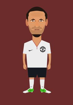 Rio Ferdinand - Manchester United Art Print