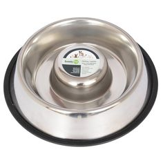 Iconic Pet Slow Feed Stainless Steel Pet Bowl for Dog or Cat *** Visit the image link more details.