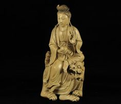19th Century Chinese Ivory Figure of Guanyin on Dragon; appx. 3 1/8 W, 7 H.  Waterford's Art & Antiques Auctioneers. Sold Dec. 15, 2012, $ 29,000