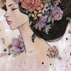 Stella Im Hultberg illustration Illustrations, Illustration Art, Arte Pop, Ink Art, Cute Art, Fine Art Paper, Art Forms, Female Art, Watercolor Paintings
