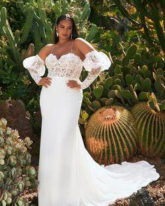 39 Plus-Size Wedding Dresses: A Jaw-Dropping Guide ❤ plus size wedding dresses off the shoulder with long sleeves lace pronovias #weddingforward #wedding #bride #weddingoutfit #bridaloutfit #weddinggown