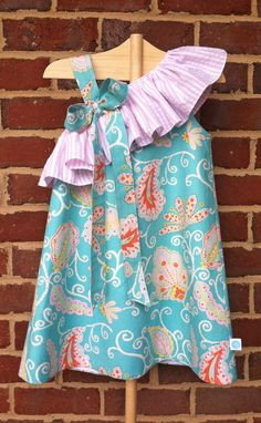 The Charlotte Dress from Lila & G! Girls one-shoulder style with ruffle - perfect for Easter, spring, and summer!