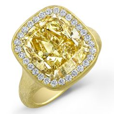 Couture yellow diamond ring