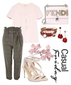 """Casual"" by pitaa29 on Polyvore featuring Fendi, Max&Co., Topshop, Imagine by Vince Camuto, Alex and Ani and BaubleBar"