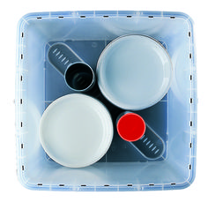 Crockery Transport Box with Lid and Two Vary Tubes Plate Storage, Food Storage, Storage Boxes With Lids, Storage Containers, Large Plates, Box With Lid, Home And Garden, Poem, Writer