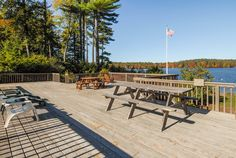 Community lakeside deck of 34-27 Harbor Way, Wolfeboro NH #history   #culture   #generations   #lifestyle   #life   #stories