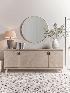 When it comes to selecting living room furniture, there are always certain pieces that seem to be essential. Living room cabinets are one of such furniture pieces. Oak Sideboard, Sideboard Furniture, Living Furniture, Furniture Storage, Credenza Decor, Modern Sideboard, Modern Hallway Furniture, Hallway Sideboard, Chevron Furniture