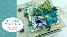 Tutorial mini álbum con bolsas de papel - YouTube