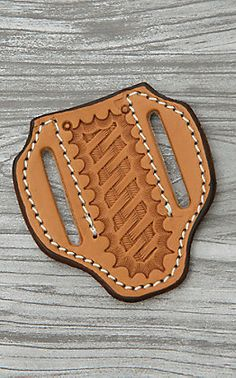 Nocona Dark Brown Leather with Floral Tooling and White Inlay Knife Sheath Dark Brown Leather, Tan Leather, Knife Sheath Making, Axe Sheath, Saddle Shop, Leather Tooling, Knives, Blade, Stamp