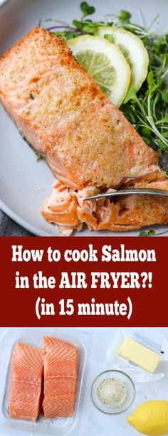 An easy and super quick lunch or dinner. A perfect juicy and crispy salmon that you can put on anything; whether it be a salad, grains or potatoes. Perfect Air Fryer Salmon - Momsdish Lauren Allen {T Seared Salmon Recipes, Healthy Salmon Recipes, Easy Recipes, Talipia Recipes, Mixed Seafood Recipe, Cooking Salmon, What's Cooking, Cooking Recipes, Best Seafood Recipes