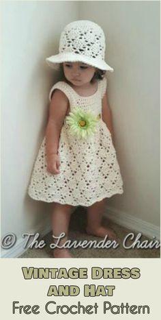 Vintage Dress and Sun Hat - Free Crochet Pattern