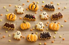 Halloween Appetizers, Halloween Desserts, Halloween Cookies, Halloween Treats, Halloween Baking, Halloween Food For Party, Japanese Cookies, Cupcake Day, Sweet Pastries