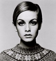 #eyeliner iconic. the one who got me using white on the lower water line. #twiggy
