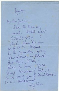 Virginia Woolf's Letter to a Young Poet
