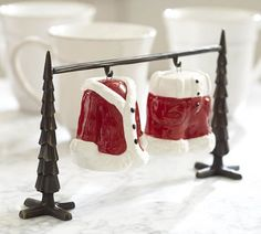 """Santa Suit Salt & Pepper Shakers 