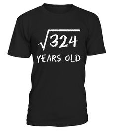 """# Square Root of 324: 18th Birthday 18 Year Old T-Shirt - Limited Edition . Special Offer, not available in shops Comes in a variety of styles and colours Buy yours now before it is too late! Secured payment via Visa / Mastercard / Amex / PayPal How to place an order Choose the model from the drop-down menu Click on """"Buy it now"""" Choose the size and the quantity Add your delivery address and bank details And that's it! Tags: 18 yrs 18yrs yr"""