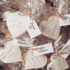 Cookies with imprints Cookie Wedding Favors, Cookie Favors, Handmade Wedding Favours, Wedding Gifts, Personalised Biscuits, Wedding Shower Cookies, Edible Favors, Heart Party, Wedding Name