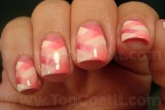 Pink nails for Breast Cancer Awareness Month: fishtail manicure! Super cute and creative.