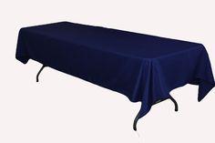 "60""x120"" Rectangular Polyester Tablecloth - Navy Blue $8.49"