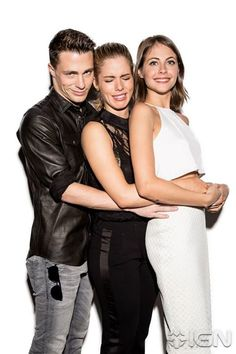 Colton Haynes, Emily Bett Rickards and Willa Holland #SDCC