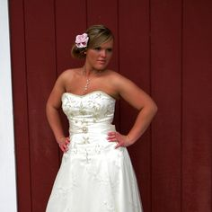 Strapless Wedding Gown Kara Sweetheart Satin by StitchPrincess,  (This is the dress I made for my cousin!)