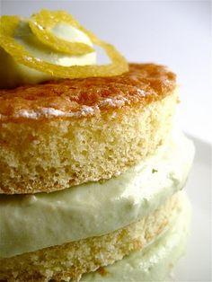 Lemony Avocado Cream Cake @Amazing Avocado #holidayavocado