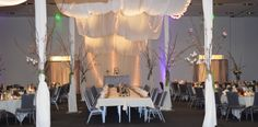 beautiful reception set up in front of the cake table Cake Table, Reception, Curtains, Weddings, Table Decorations, Furniture, Beautiful, Home Decor, Blinds