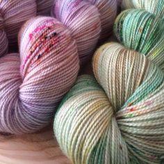 Druzy Rising Hand Dyed Yarn by DruzyRising on Etsy