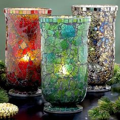 Mosaic vase with beautiful glass effect                              …