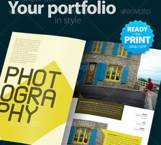 Image result for print portfolio page template