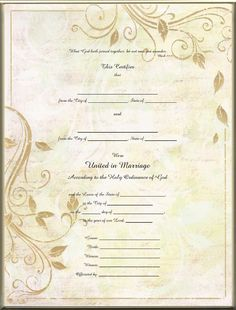 marriage certificates - Bing Images Marriage Certificate, Marriage License, Wedding Things, Vows, Bing Images, Calligraphy, Scrapbook, Wedding Ideas, Weddings