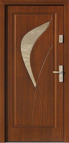 Drewniane wejściowe drzwi zewnętrzne do domu z katalogu modeli klasycznych wzór 458,1