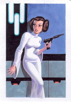 """""""Leia"""" by Bruce Timm (via www.comicartcommunity.com/gallery/categories.php?cat_id=498)"""