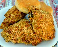 Spicy Oven Fried Chicken- a healthier alternative to fried chicken