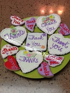 Decorated Cookies = give a plate of these is a great way to say thank you