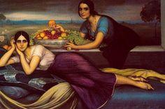 romero de torres paintings | La primavera, óleo de Julio Romero De Torres (1874-1930, Spain)