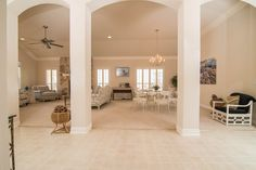 This single story Marbella Estate model has a south east facing patio overlooking a memorizing waterfall and a double fairway for extended privacy. The 2,820SF offers luxurious living born in 2004. The 3 car garage, 2 bedroom, 2.5 baths, custom den and Living room stone fireplace may be your next home.