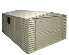 Duramax 01014 Vinyl Garage Shed With Foundation And Window, 10 By 15.5-Inch, 2015 Amazon Top Rated Storage Sheds #Lawn&Patio