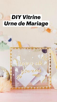 Idee Diy, Messages, Love Is All, Diy Wedding, Buckets, Diy Paper Crafts, Cartonnage, Basket, Gifts