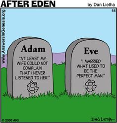 Adam and Eve Graves - Humor